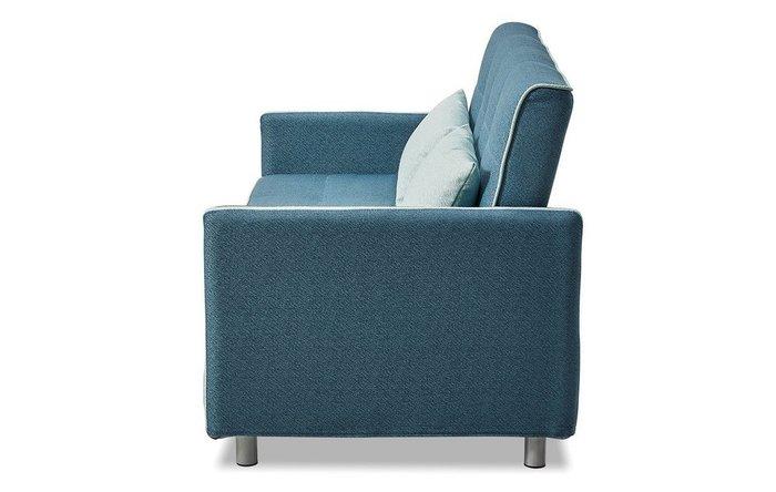 Прямой диван-кровать Claire M темно-бирюзового цвета