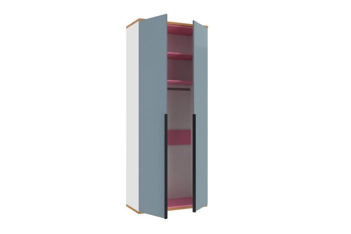 Шкаф двухстворчатый Урбан бело-серого цвета