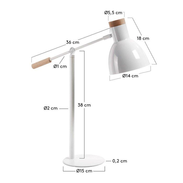 Настольная лампа Julia Grup Scarlett белая из металла и дерева