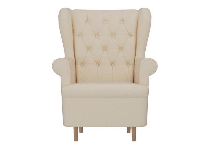 Кресло Торин Люкс бежевого цвета (экокожа)