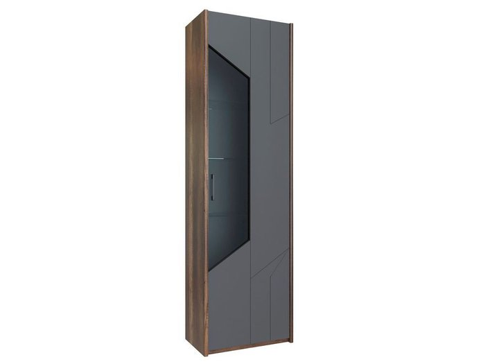 Шкаф для посуды Софт серого цвета (правый)