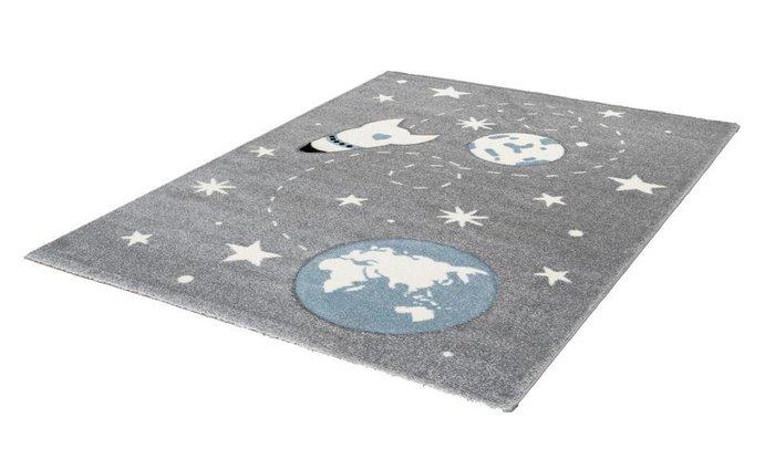 Детский ковер Amigo Cosmos Silver серого цвета 80х150