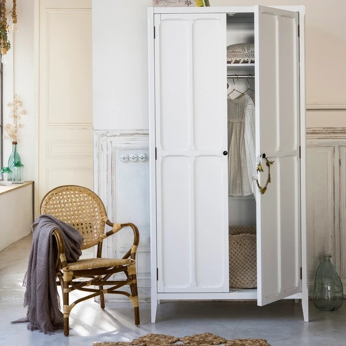 Шкаф Eugnie белого цвета
