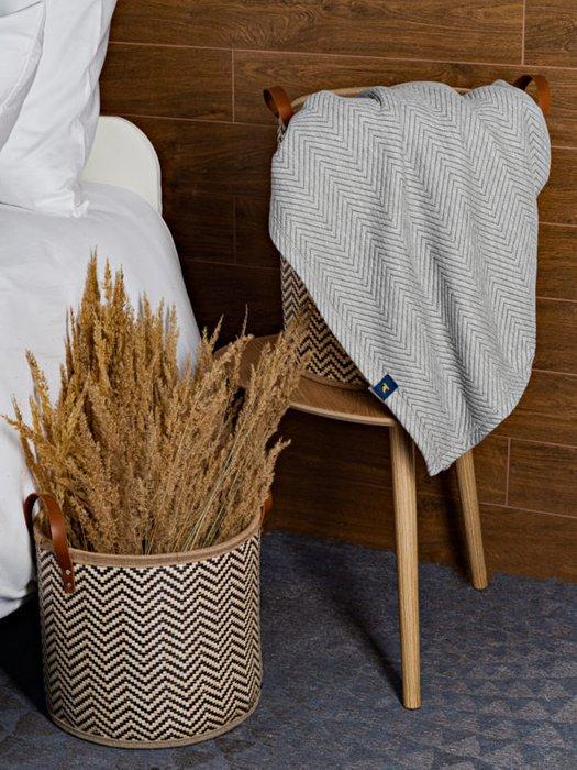 Трикотажное покрывало Pisa grey 210х230 серого цвета