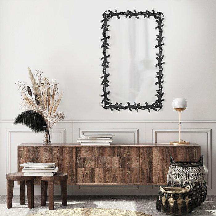 Зеркало настенное Ящерицы черного цвета