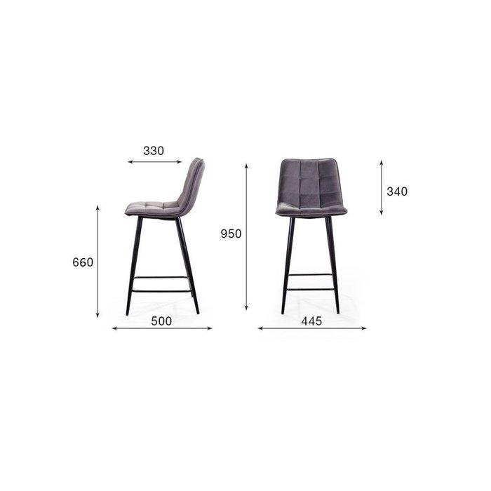 Полубарный стул Uno серого цвета