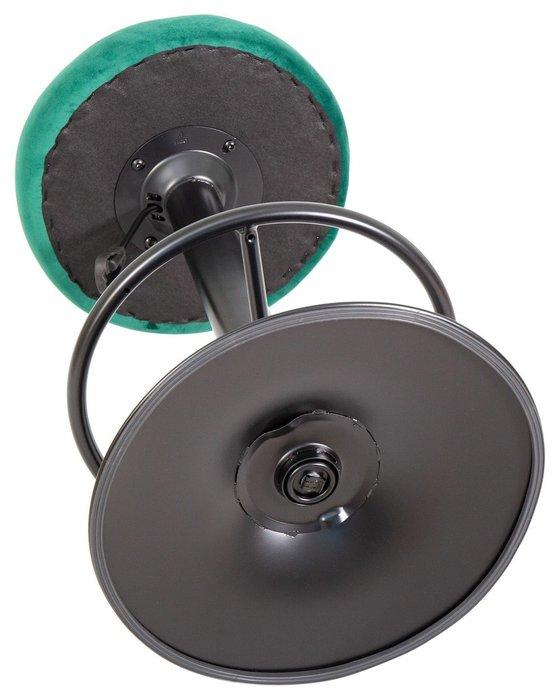 Табурет барный Bruno зеленого цвета на черной металлической ножке