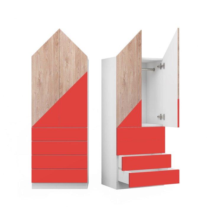 Шкаф Норвежский лес L с фасадом красно-коричневого цвета