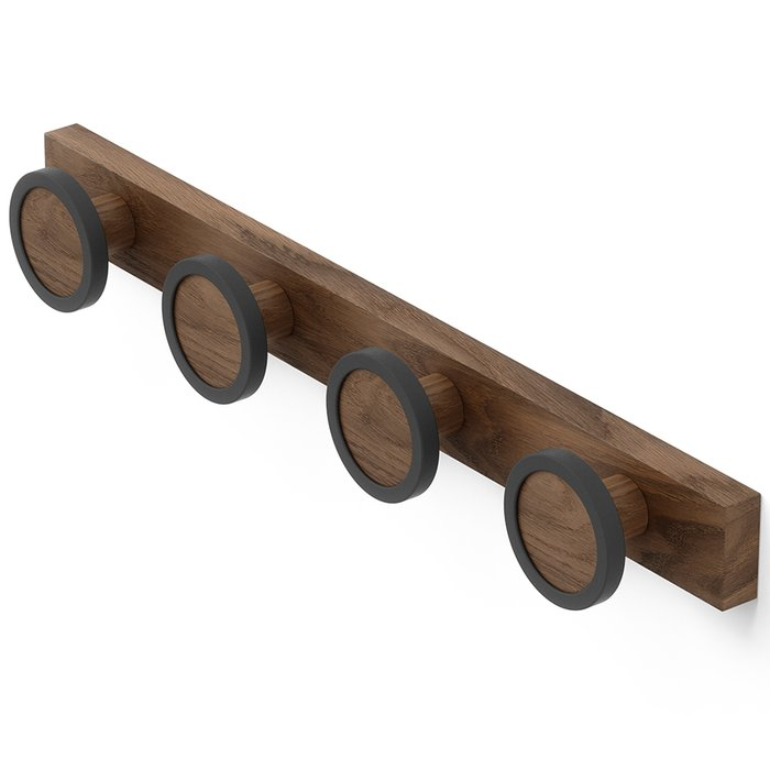 Вешалка настенная Hub rail коричневого цвета