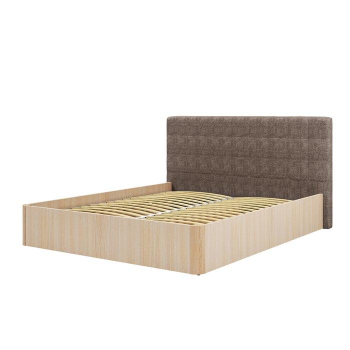 Кровать Магна 160х200 бежевого цвета с подъемным механизмом