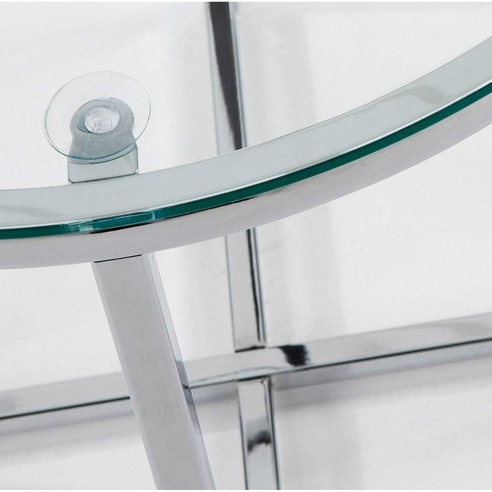 Стеклянный журнальный столик Julia Grup Vivid на металлическом каркасе