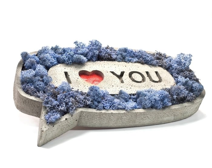 Панно I love you из бетона