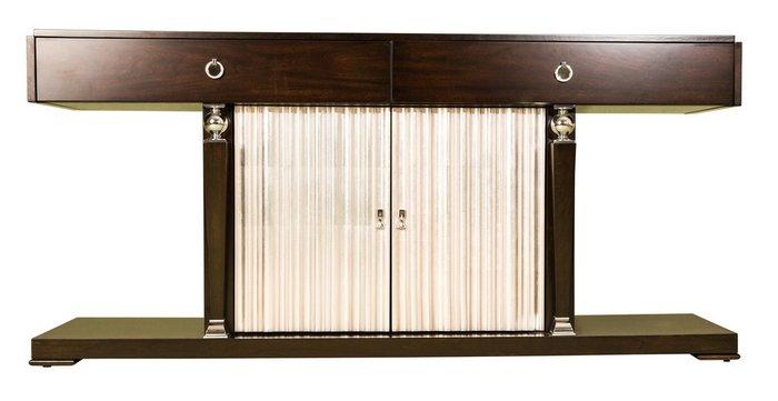 Консоль Mestre с дверями цвета сусальное серебро