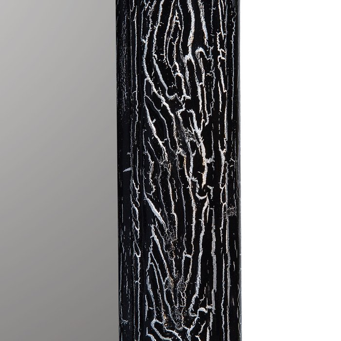 Зеркало настенное Кора черно-серебристого цвета