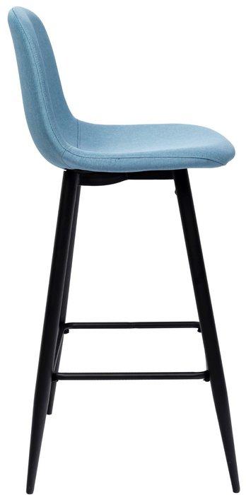 Барный стул Валенсия голубого цвета