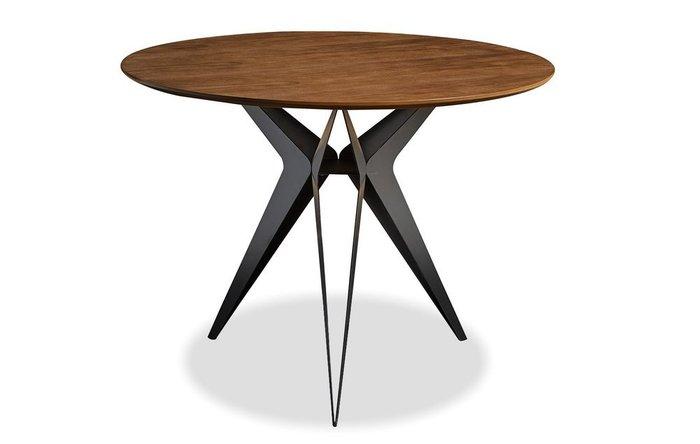 Обеденный стол Eliza Standart M с коричневой столешницей