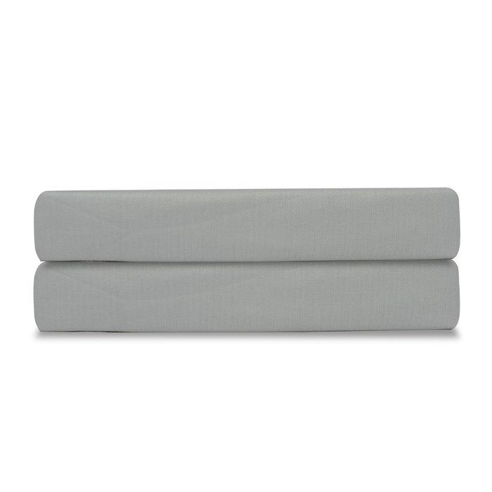 Простыня Essential из сатина светло-серого цвета 180х270