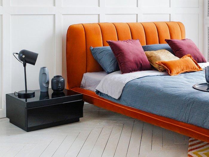 Кровать Amsterdam 160х200 темно-синего цвета