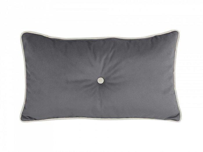Подушка декоративная Pretty темно-серого цвета