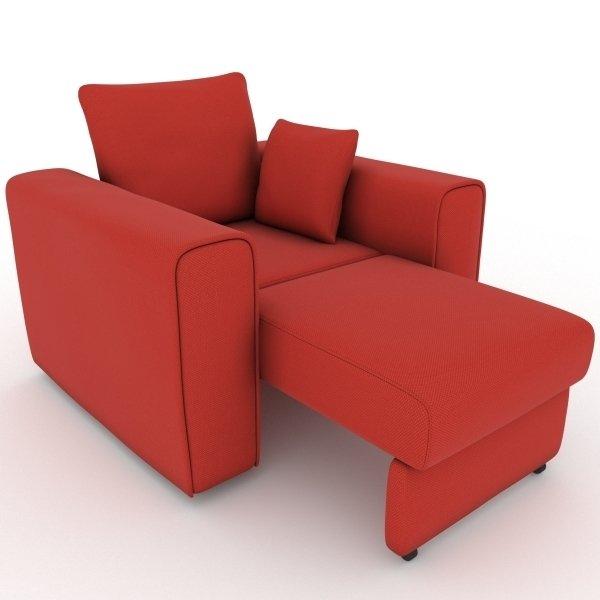 Кресло-кровать Giverny красного цвета