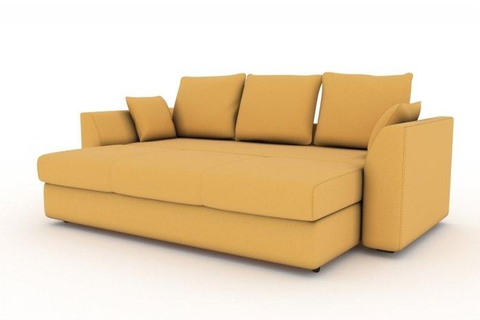 Прямой диван-кровать Belfest желтого цвета