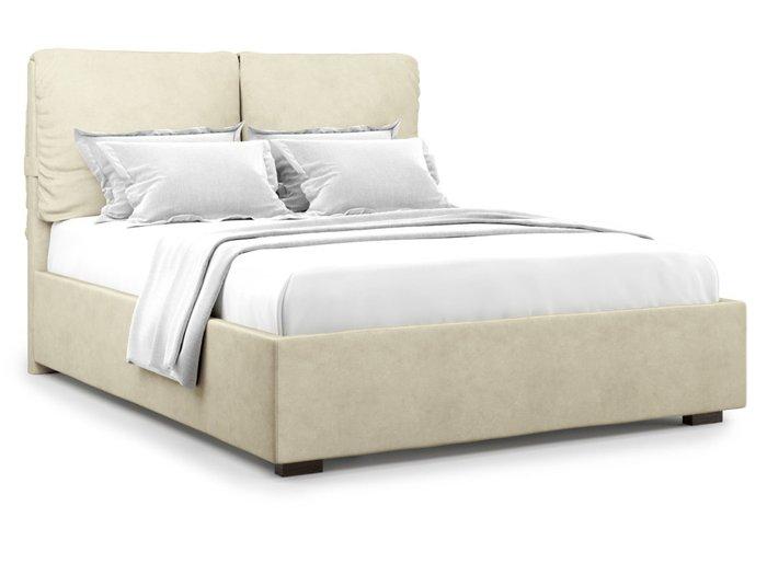Кровать Trazimeno 160х200 бежевого цвета с подъемным механизмом