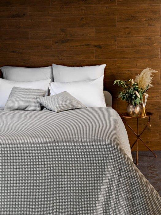 Трикотажное покрывало Attico grey 230х250 серого цвета