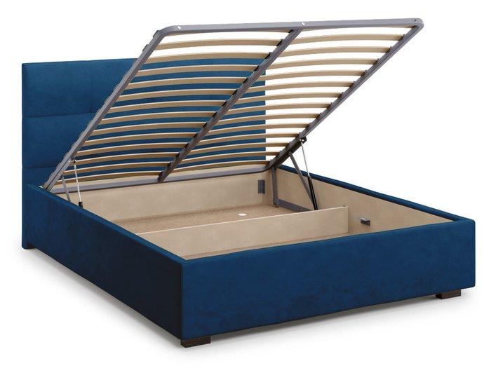 Кровать Garda 180х200 синего цвета с подъемным механизмом