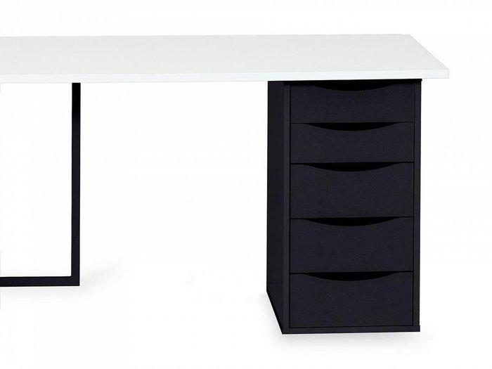 Письменный стол Board с тумбой черного цвета
