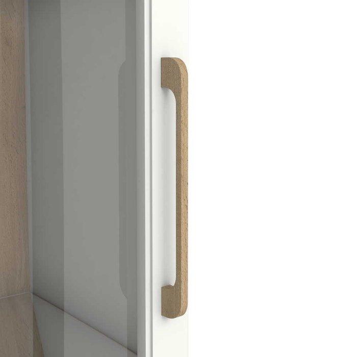 Шкаф-витрина Кассия цвета Дуб вотан белый