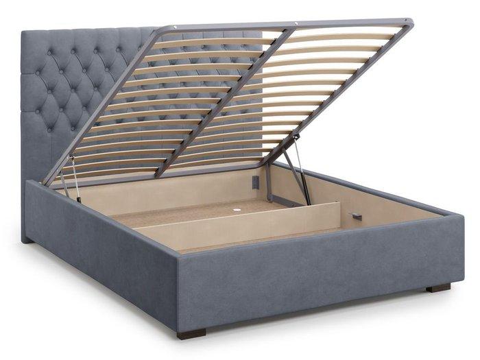 Кровать с подъемным механизмом Nemi 180х200 серого цвета