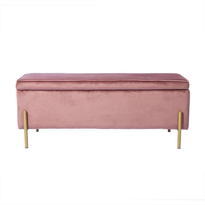 Банкетка Тюдор розового цвета
