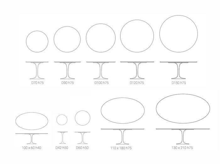 Стол обеденный Apriori T белого цвета