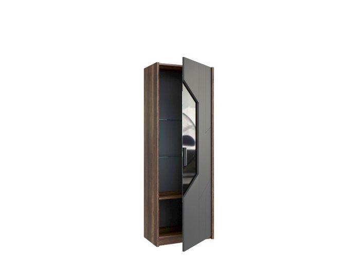 Шкаф для посуды малый Софт серого цвета (правый)