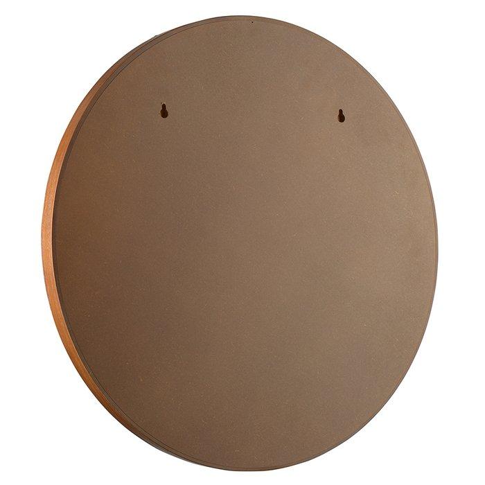 Настенное зеркало Fornaro диаметр 58 в раме коричневого цвета