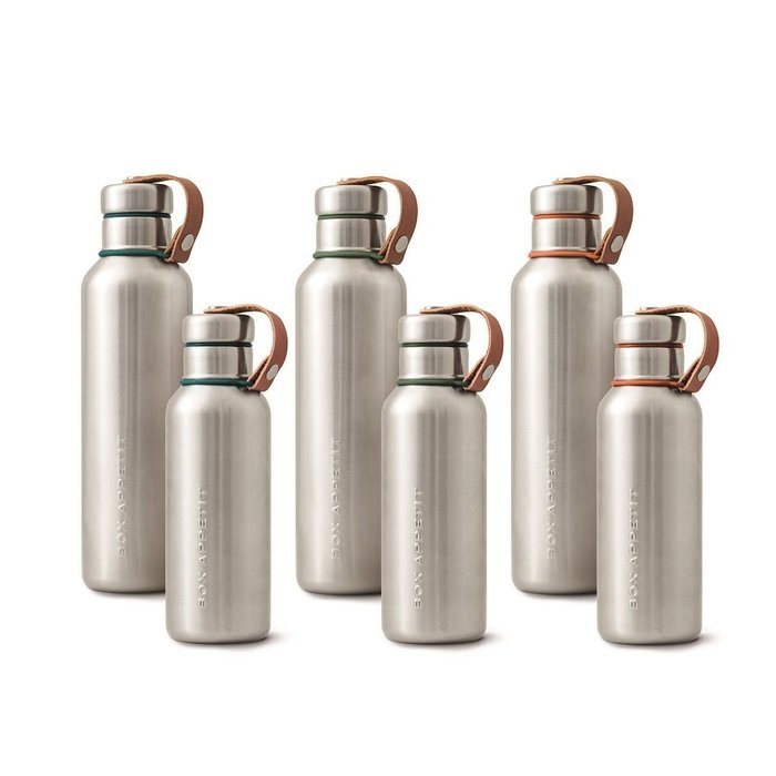 Фляга Water Bottle большая бирюзовая из нержавеющей стали с пластиковой крышкой