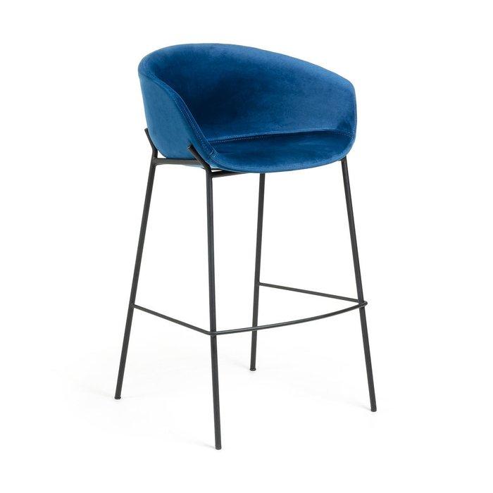 Барный стул Zadine синего цвета