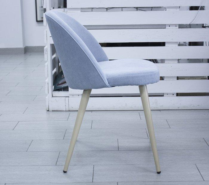 Голубой стул Томас с мягким сидением