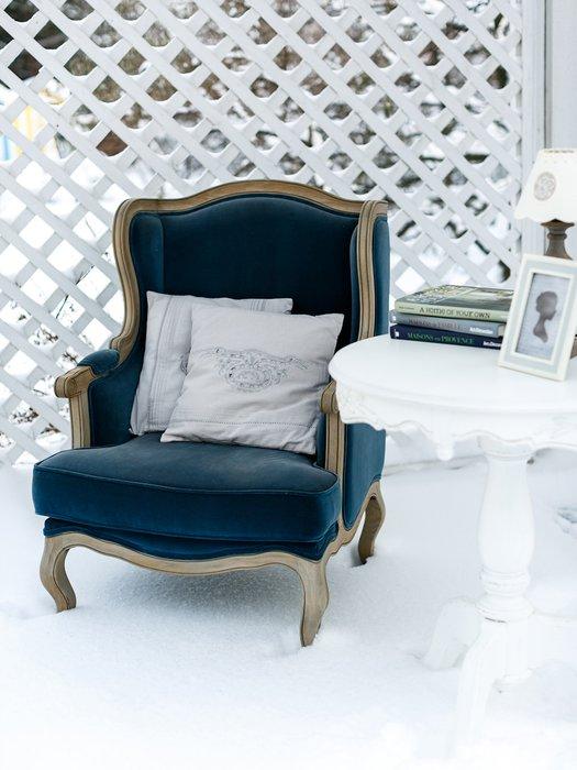 Кресло Сезарина темно-синего цвета