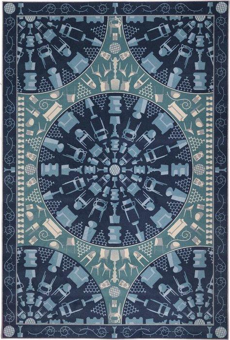 Ковер Carpet синего цвета 200х300