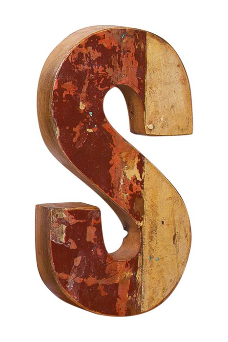 Декор буква S из фрагмента рыболовецкого судна