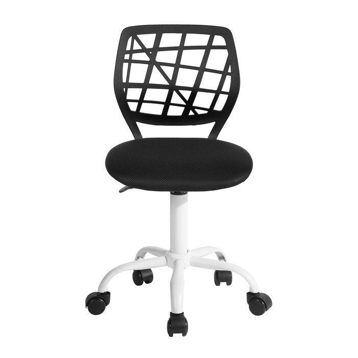 Кресло компьютерное детское Эльза черного цвета