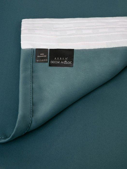 Штора блэкаут Atlantic 170х270 сине-зеленого цвета