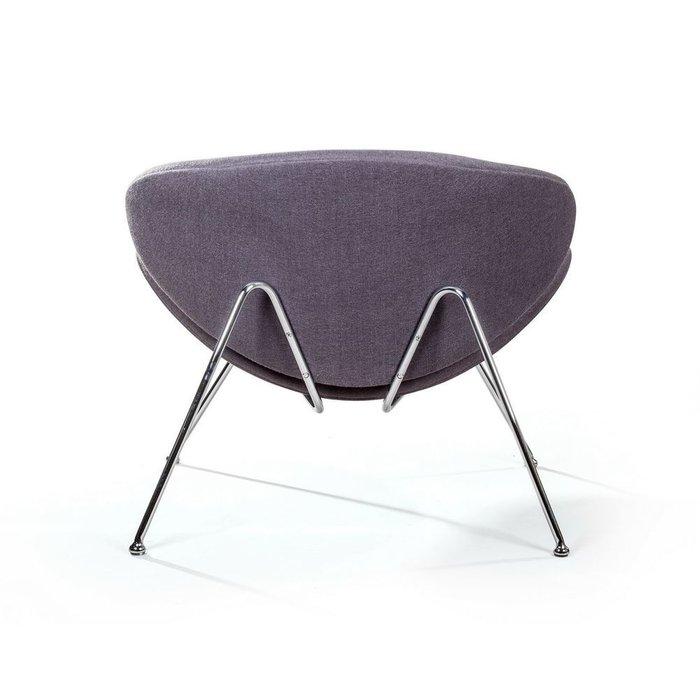 Лаунж кресло Slice серого цвета