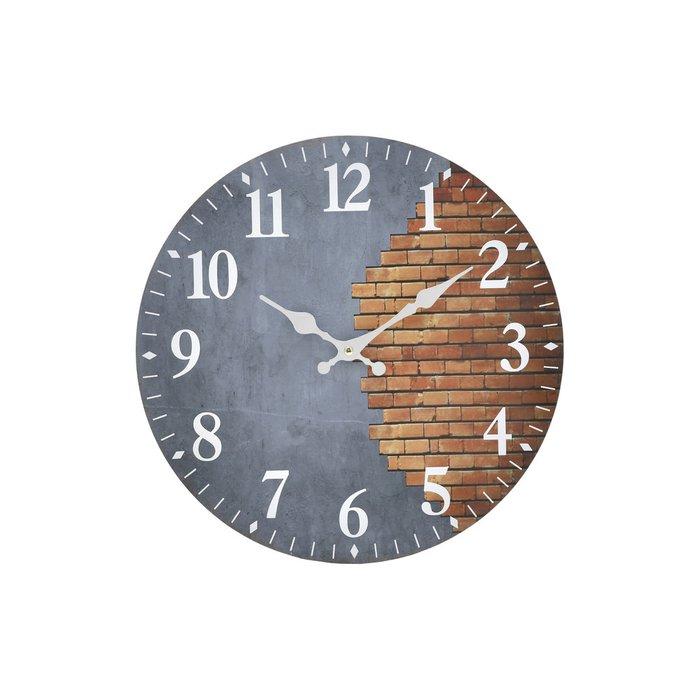 Часы настенные серо-коричневого цвета