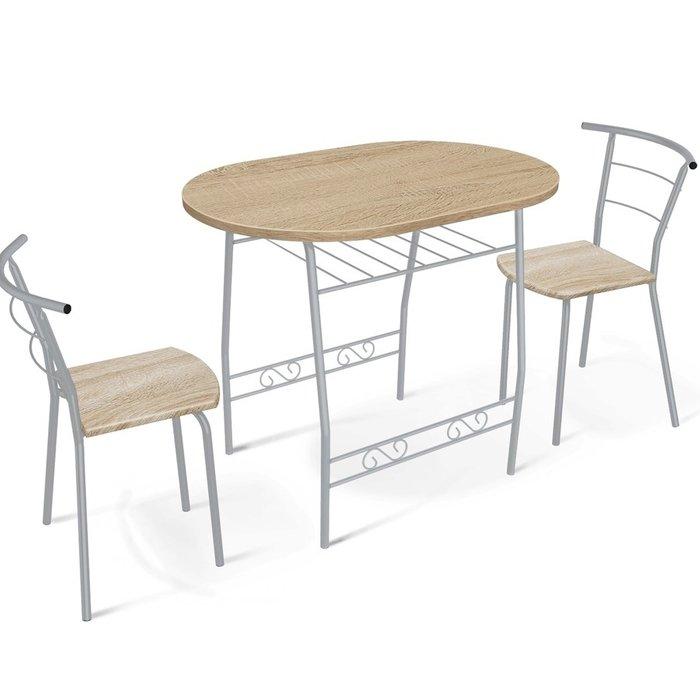 Стол обеденный со столешницей дуб сонома