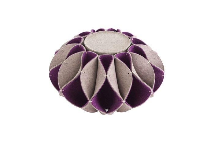Высокий пуф Ruff фиолетового цвета
