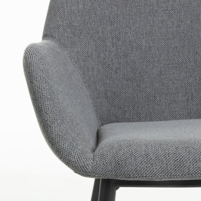 Стул Koon серого цвета на металлических ножках