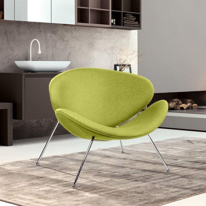 Лаунж кресло Slice зеленого цвета