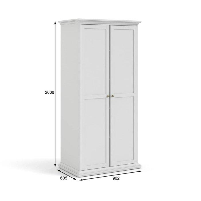 Шкаф Шарли белого цвета с двумя дверцами